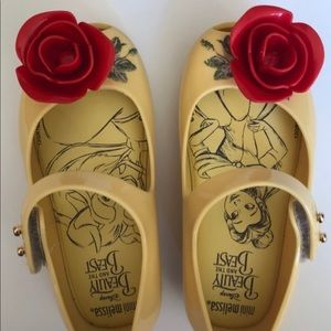 Mini Melissa Beauty and the Beast Mary Jane shoes